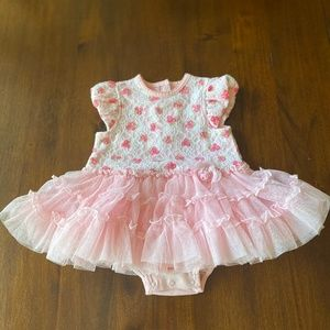 2 for $15! Little Me Pink Tutu Dress 9m